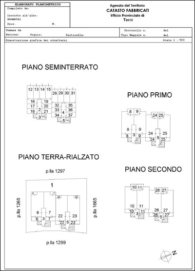 Elaborato planimetrico 5 90 visure catastali for Software di piano planimetrico